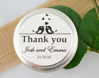 Unique Wedding Favors, Love Birds Wedding, Guest Gifts, Personalized Candle Favors, Thank You Gifts, Bridal Shower,  Engagement Party Favors