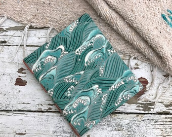 Hardcover Fabric Wave Journal