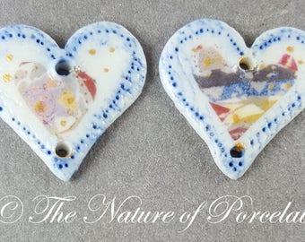 Artisan Porcelain Hearts #11