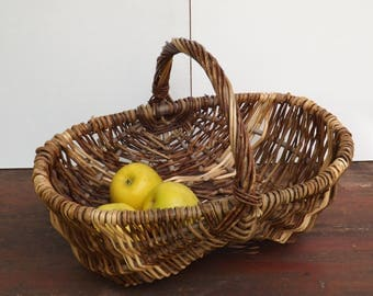 Pretty wicker - basket rustic basket