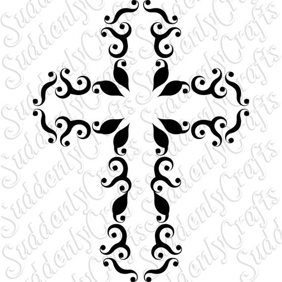 Vine Cross SVG