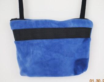 Sugar Glider Bonding Pouch, baby hedgehog bonding bag, small exotic nesting supplies, zipper bag, snuggle sack, Blue Tie Dyed Fleece