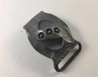 Unique hand forged Titanium belt buckle