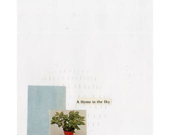 A Home In The Sky Collage Print