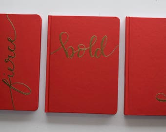 Red Hot Collection | Journal | Notes | Calligraphy | Embossing | Quotes | Hand Lettered |