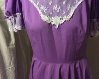 Vintage, dress,square dance,purple, Malco modes, california,