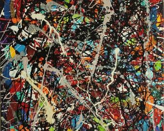 "Original Abstract Acrylic Painting ""P1"""