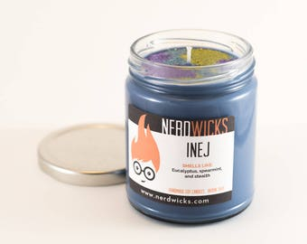 Inej - Six of Crows Inspired Candle, Spearmint & Eucalyptus Scented Candle