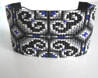 Woven beaded bracelet. Miyuki