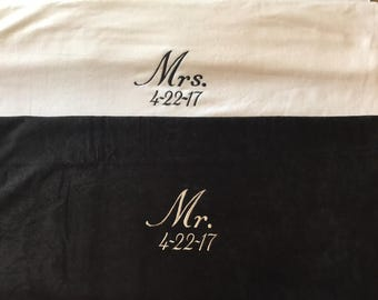 Custom embroidered wedding gifts