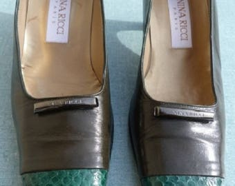 60S NINA RICCI shoes size EU 38.5 Uk 5.5 us 8