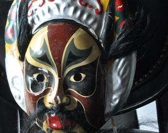 Japanese Mask Vintage Papier Mache Theater NOH Hand Painted *paper