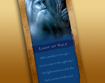 Light of Yule Bookmark - Bookmarker - Bookmarking - Bookmarks for Books - Book Mark - Reading Bookmark - Yule - Wizard