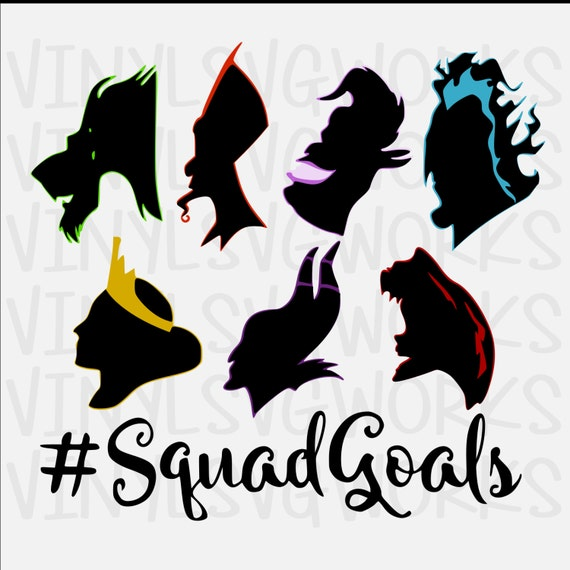 Villain Squad Goals Svg File From Vinylsvgworks On Etsy Studio
