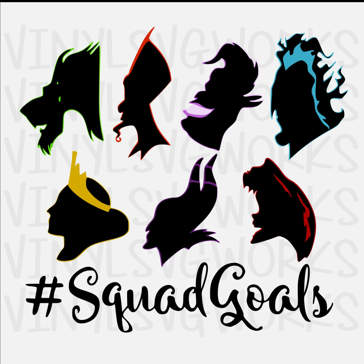 Villain Squad Goals Svg File