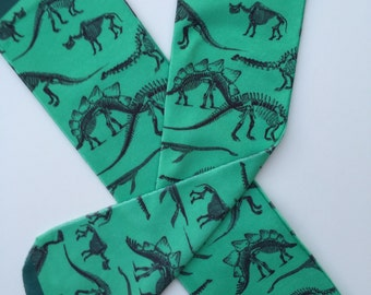 Green Dinosaur Socks | Dinosaur Lover Gift | Cool Birthday Gifts | Fossil Socks |Stocking Stuffers | Dinosaur Gift |Kids Socks| Girls Socks