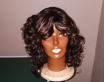 Black/30 Curly Synthetic Wig