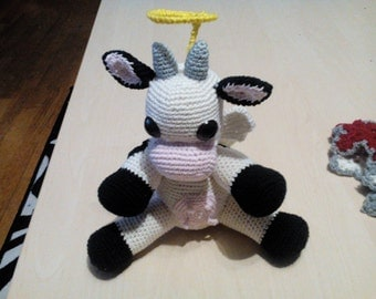 Holy cow amigurumi angel cow - Angie - the holy cow