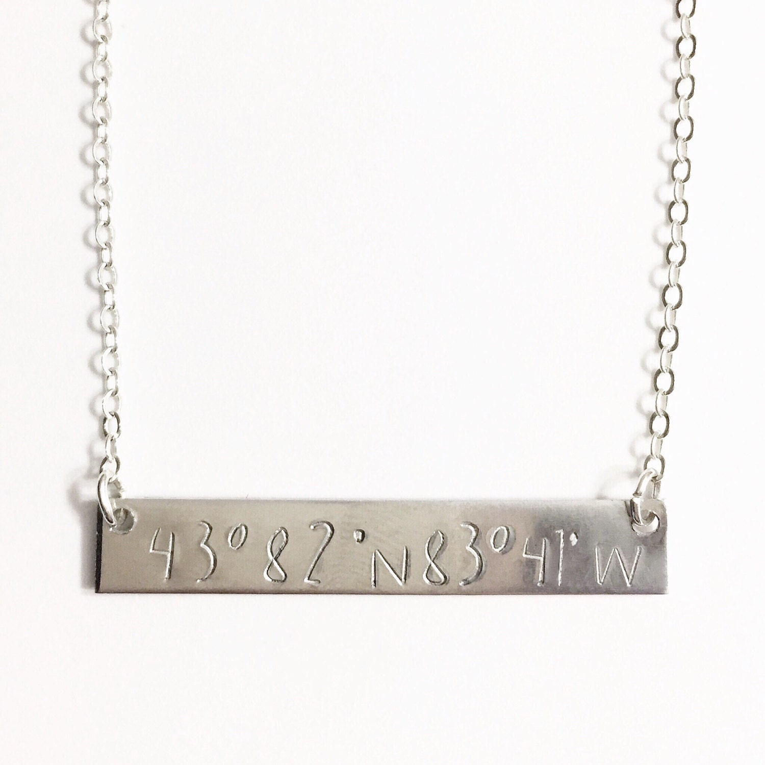 Gps Coordinates Necklace: Latitude Longitude Necklace Coordinates Necklace Location