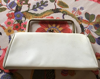 White top handle handbag