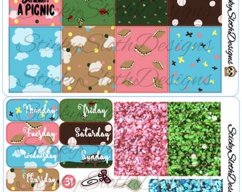 Life's A Picnic - 171 Planner Stickers