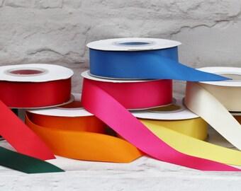 1 Meters 25mm Ribbon, Double Faced Satin Ribbon, Etsy Shop Ribbon, Craft Supplies, Birthday Ribbon, Christmas Ribbon, Shop Accessories