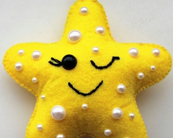 Felt star ornament home decoration for kids room Housewarming Baby shower gift for her for him gift idea nursery decor home design