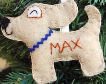 2018 dog Personalized dog Christmas Ornament valentines day gift Felt dog New Baby Baby's First Christmas Girl Boy Customized Gift Puppy
