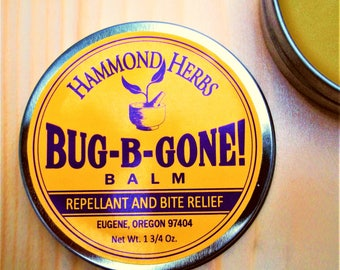 Bug-B-Gone Balm - Natural Bug Repellant and Bite Relief - Camping, Gardening, Fishing, Hiking Balm