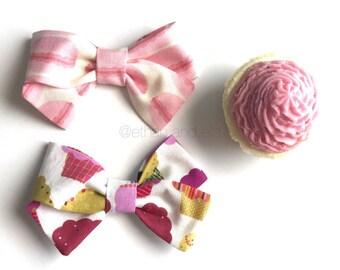 Macarons Or Cupcakes Grace Bow Clip OR headband