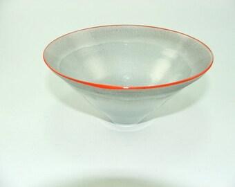 Mid-century vintage Kosta Boda glass  bowl signed  Monica Backstroem Sweden