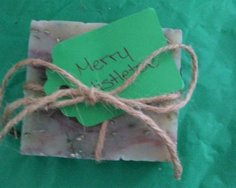 Homemade Merry Mistletoe Soap