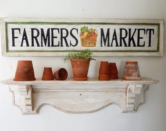 FARMERS MARKET Sign  vintage style signs, hand made signs, handpainted signs, distressed signs, farm house signs, wooden signs