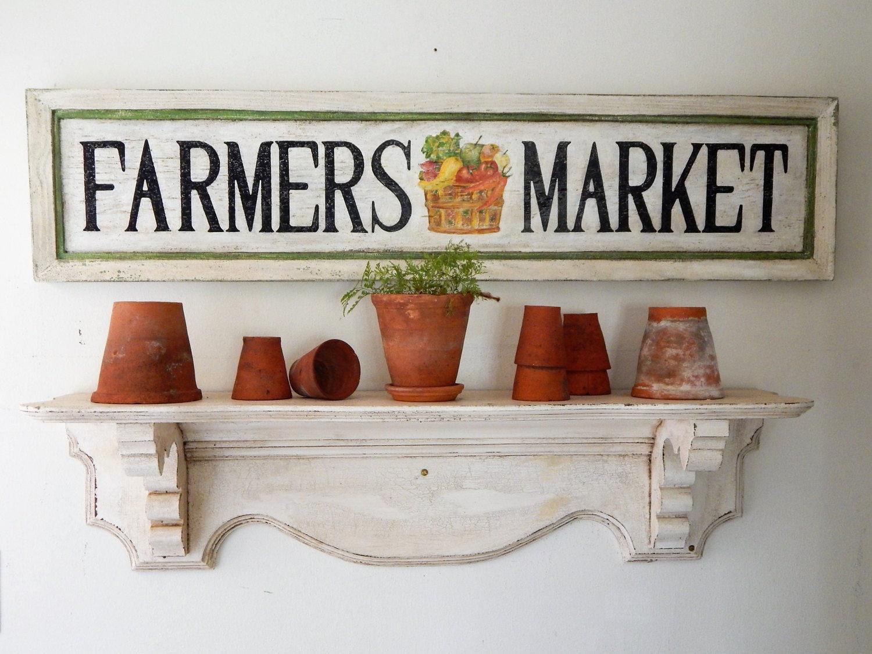 Vintage Farmers Market Sign FARMERS MARKET Sign vi...