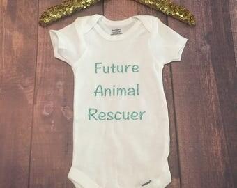 Future Animal Rescuer onesie, Baby onesie, dog onesie for babies, Onesie