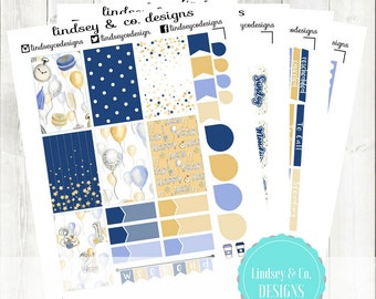 Happy New Year Kit- Sticker Kit Perfectly Sized for 2016 BIG MAMBI Happy Planner