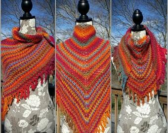 Woven Crochet Fringe Shawl