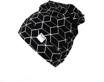 Geometric Black Beanie