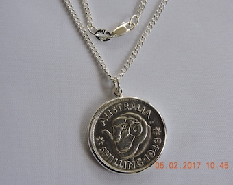 Australian Shilling Coin Necklace
