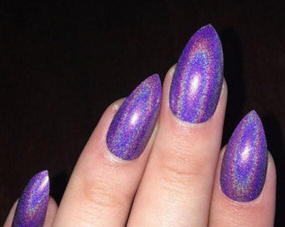 Purple Holographic Glitter Holo glitter Laser glitter ...