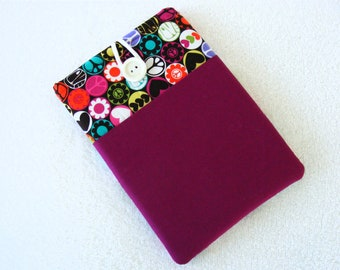 IPad Mini Sleeve Cover,  Kindle Fire Cover,  Colorful 70's Theme Print