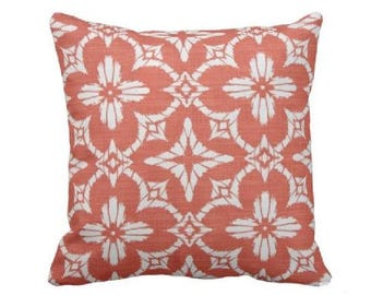 Outdoor Throw Pillow Cover  Outdoor Decorative Pillow   Coral Outdoor Pillow    Orange Outdoor Pillow