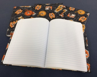 The Nightmare Before Christmas Jack Skellington fabric covered journal