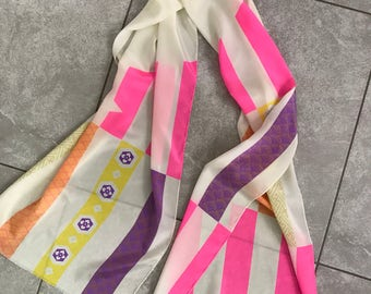 Vintage neon scarf Hipster style DV signature