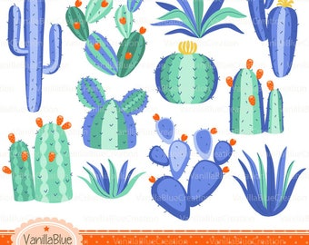 clipart cactus, cactus vector, clipart succulent plants clipart