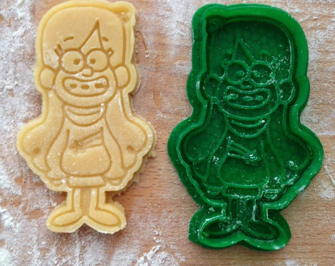 Mabel Pines cookie stamp. Gravity Falls cookie cutter. Gravity Falls cookies