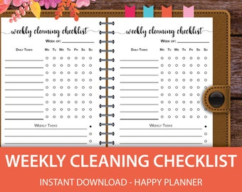 Cleaning Planner, Happy Planner Cleaning, Happy Planner Checklist, Happy Planner Printable Pages, Happy Planner Pages, Happy Planner Inserts
