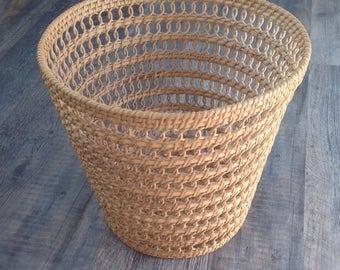 Vintage bohemian basket planter