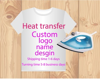 custom heat press transfers label, heat press clothing labels for clothing