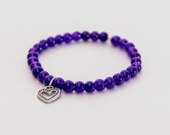 Open Heart Beaded Bracelet